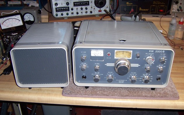 KW Electronics KW-2000B from England with matching speaker first used by Steve to check into Pat's Vintage SSB net
