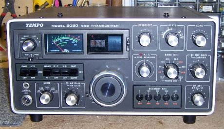 Tempo 2020 transceiver built by Uniden for Henry radio all solid state except for driver and finals